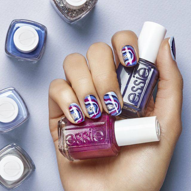 nail art rock it in geode